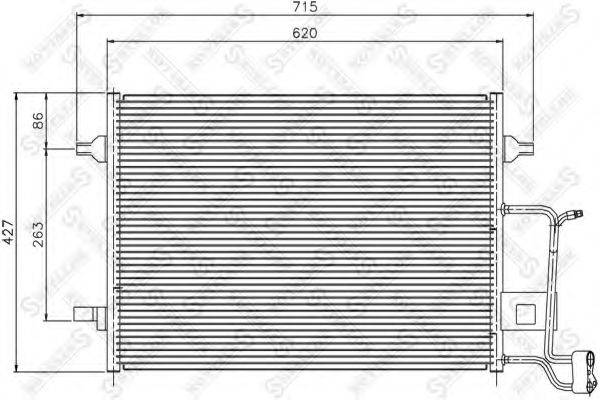 STELLOX 1045399SX Конденсатор, кондиционер