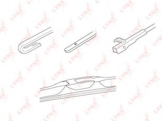 LYNXAUTO LX550 Щетка стеклоочистителя