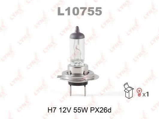 LYNXAUTO L10755 Лампа накаливания, фара дальнего света; Лампа накаливания, основная фара; Лампа накаливания, противотуманная фара; Лампа накаливания, фара с авт. системой стабилизации; Лампа накаливания, фара дневного освещения