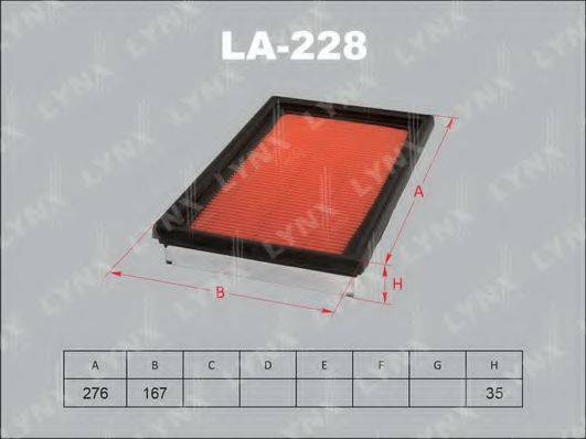 LYNXAUTO LA228 Воздушный фильтр