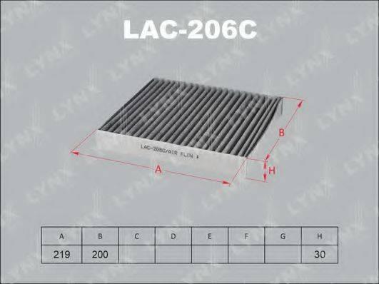LYNXAUTO LAC206C Фильтр, воздух во внутренном пространстве