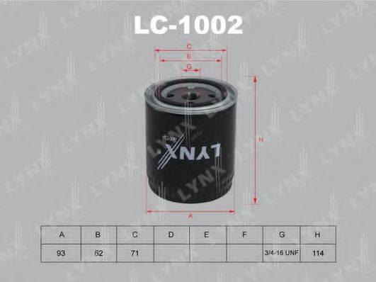LYNXAUTO LC1002 Масляный фильтр