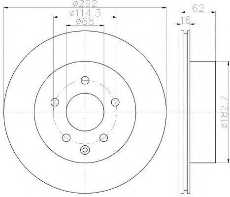 HELLA PAGID 8DD355112391 Тормозной диск