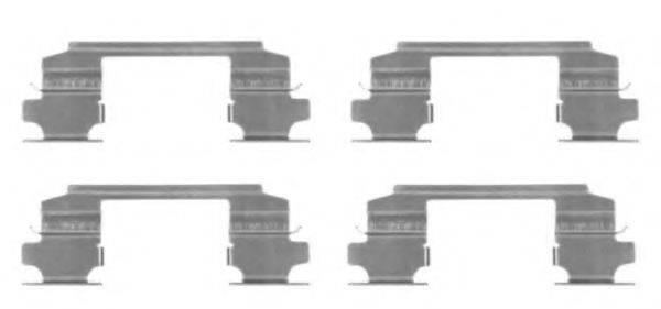 HELLA PAGID 8DZ355203731 Комплектующие, колодки дискового тормоза