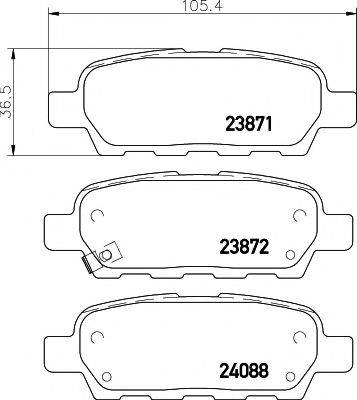 HELLA PAGID 8DB355010241 Комплект тормозных колодок, дисковый тормоз