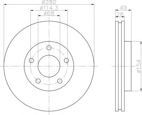 HELLA PAGID 8DD355108001 Тормозной диск