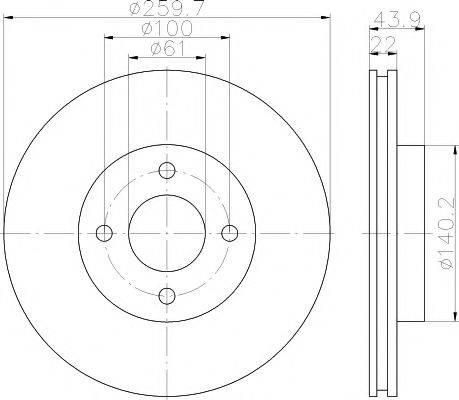 HELLA PAGID 8DD355118291 Тормозной диск