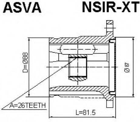 ASVA NSIRXT Шарнирный комплект, приводной вал