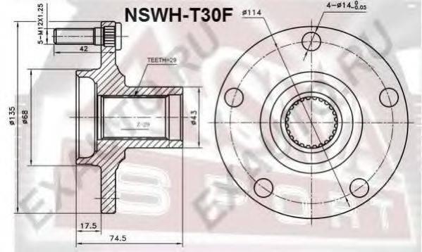 ASVA NSWHT30F Ступица колеса