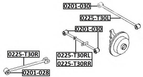 ASVA 0201030 Подвеска, рычаг независимой подвески колеса