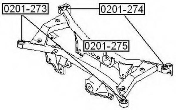 ASVA 0201273 Подвеска, рычаг независимой подвески колеса