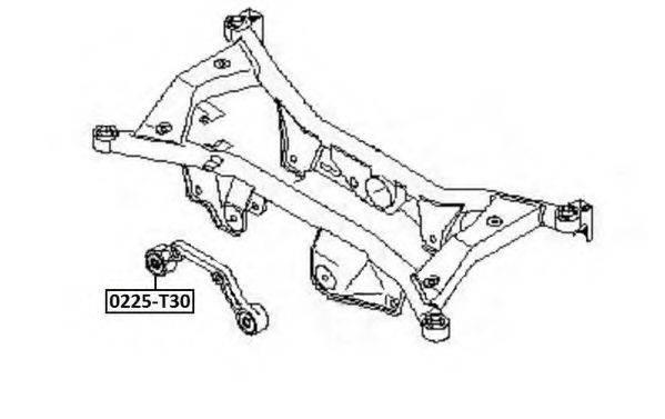 ASVA 0225T30 Рычаг независимой подвески колеса, подвеска колеса