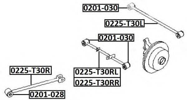 ASVA 0225T30RL Рычаг независимой подвески колеса, подвеска колеса