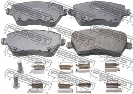 FEBEST 2401CLIF Комплект тормозных колодок, дисковый тормоз