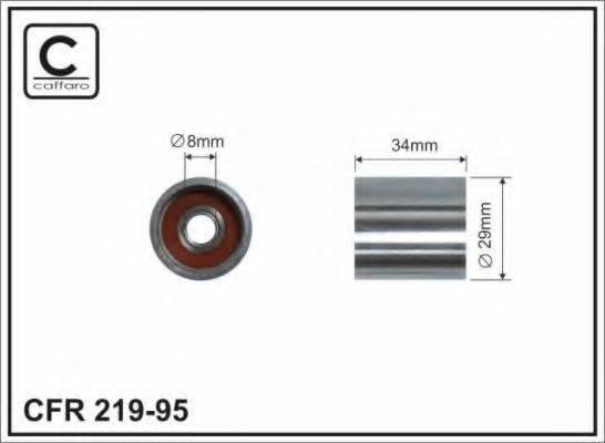 CAFFARO 21995 Паразитный / Ведущий ролик, зубчатый ремень