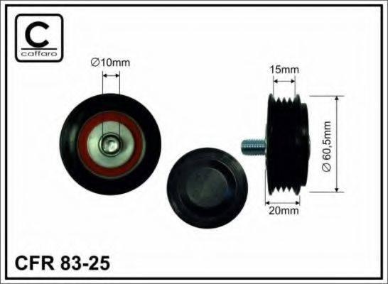 CAFFARO 8325 Натяжной ролик, поликлиновой  ремень