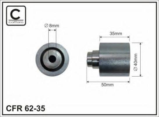 CAFFARO 6235 Паразитный / Ведущий ролик, зубчатый ремень