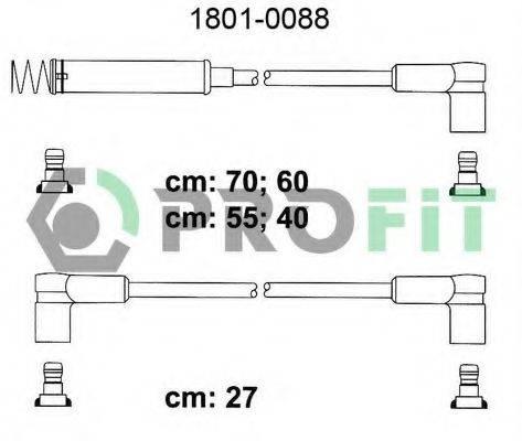 PROFIT 18010088 Комплект проводов зажигания
