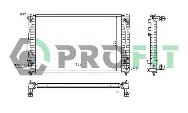 PROFIT PR0014A3 Радиатор, охлаждение двигателя