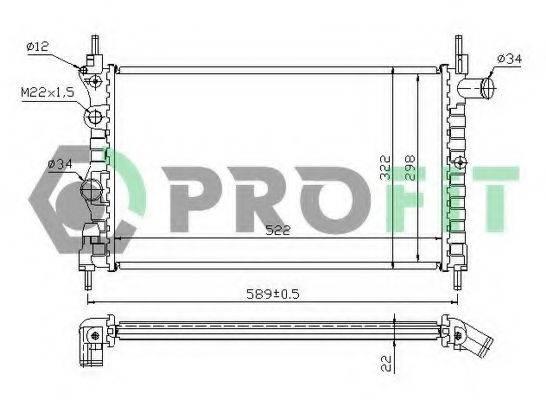 PROFIT PR5049A1 Радиатор, охлаждение двигателя