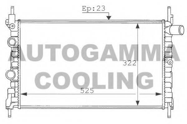 AUTOGAMMA 100687 Радиатор, охлаждение двигателя
