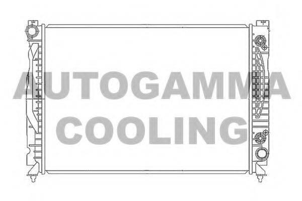 AUTOGAMMA 105483 Радиатор, охлаждение двигателя