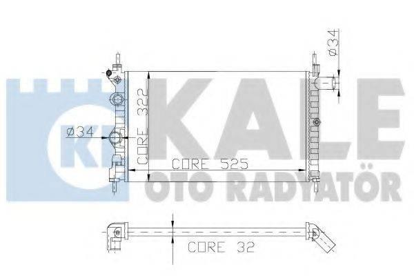 KALE OTO RADYATOR 177300 Радиатор, охлаждение двигателя