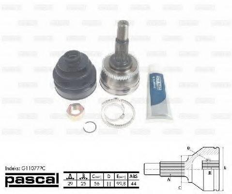 PASCAL G11077PC Шарнирный комплект, приводной вал