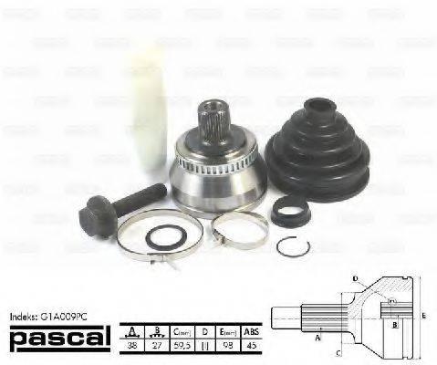 PASCAL G1A009PC Шарнирный комплект, приводной вал