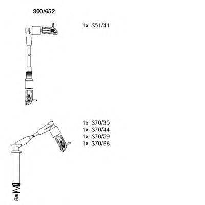 BREMI 300652 Комплект проводов зажигания