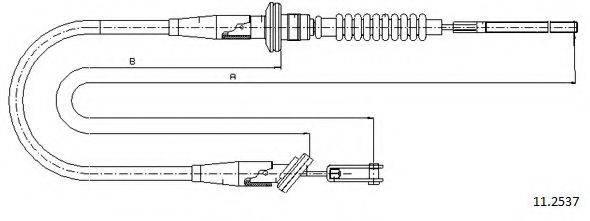 CABOR 112537 Трос, управление сцеплением