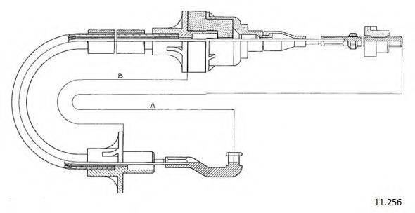 CABOR 11256 Трос, управление сцеплением