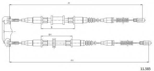 CABOR 11585 Трос, стояночная тормозная система