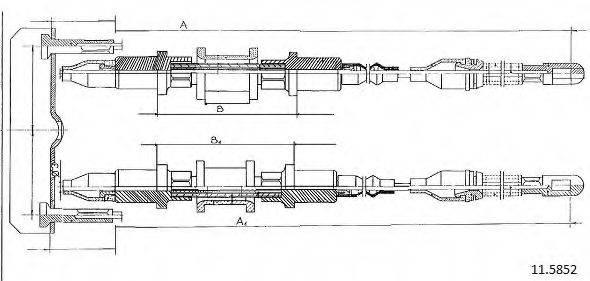 CABOR 115852 Трос, стояночная тормозная система