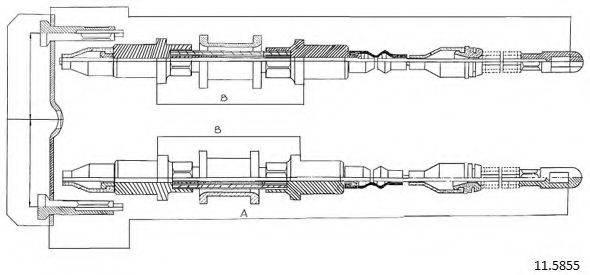 CABOR 115855 Трос, стояночная тормозная система