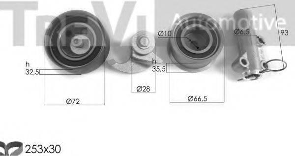 TREVI AUTOMOTIVE KD1462 Комплект ремня ГРМ