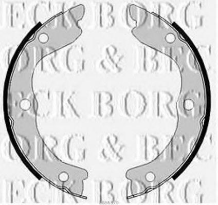 BORG & BECK BBS6370 Комплект тормозных колодок