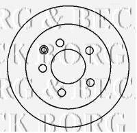 BORG & BECK BBD4368 Тормозной диск