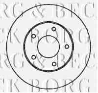BORG & BECK BBD4327 Тормозной диск