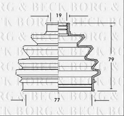BORG & BECK BCB2016 Пыльник, приводной вал