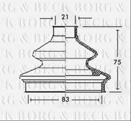 BORG & BECK BCB2333 Пыльник, приводной вал