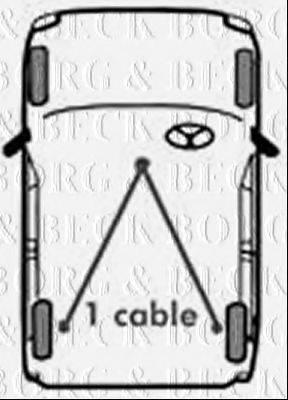 BORG & BECK BKB1397 Трос, стояночная тормозная система