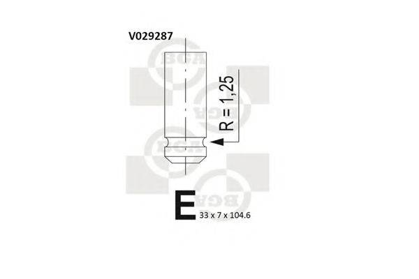 BGA V029287 Впускной клапан