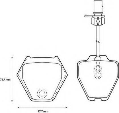 JURID 573064J Комплект тормозных колодок, дисковый тормоз