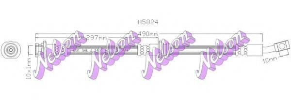 BROVEX-NELSON H5824 Тормозной шланг