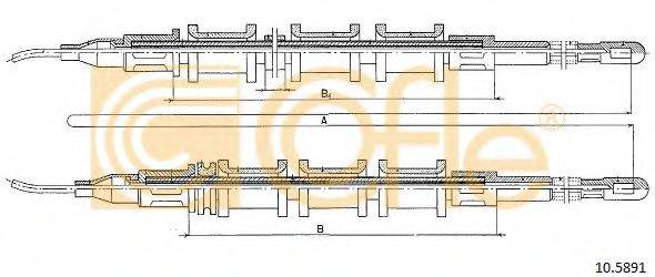 COFLE 105891 Трос, стояночная тормозная система