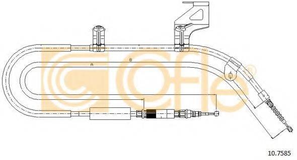 COFLE 107585 Трос, стояночная тормозная система