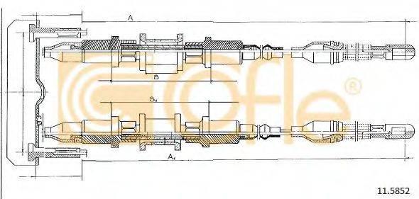 COFLE 115852 Трос, стояночная тормозная система