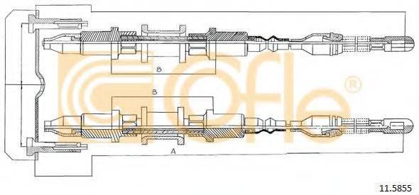 COFLE 115855 Трос, стояночная тормозная система