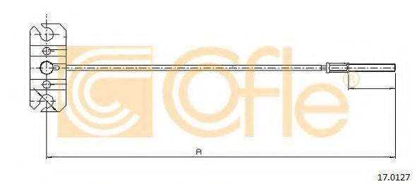 COFLE 170127 Трос, стояночная тормозная система